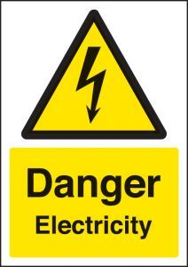 Danger electricity - A4 rp