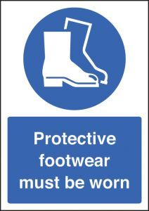 Protective footwear must be worn - A4 rp