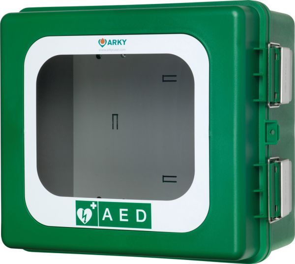 ARKY Alarmed Outdoor Defibrillator Cabinet with Heating Element