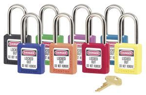 Safety Lockout Padlock, Keyed Different, Teal