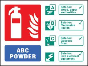 ABC powder extinguisher identification