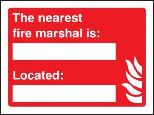 The nearest fire marshal is