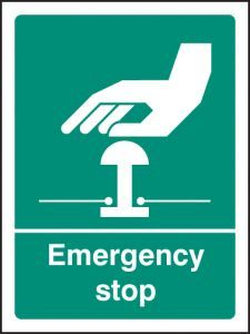 Emergency stop (white/green)
