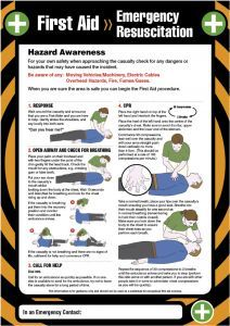 First aid emergency resuscitation 420x594mm poster