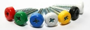 Poly top screws white (pack 12)