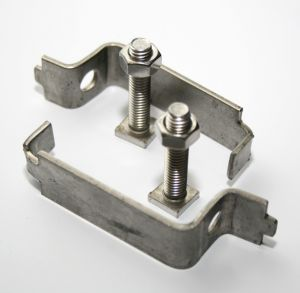 Stainless steel back to back clips 50mm (pair)