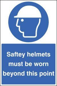 Safety helmets must be worn floor graphic 400x600mm