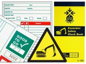Good To Go Safety Excavator Check Book - 25 inspections
