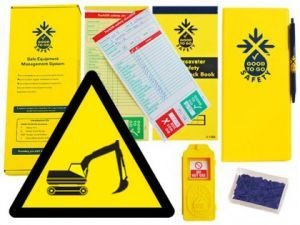Good To Go Safety Excavator Weekly Kit (1 tag, 100 seals, 2 check books & 1 wallet with pen)