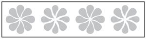 Glass safety highlighting frosted crystal decals 150x1000mm length - flower