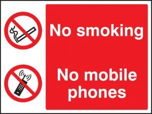 No smoking or mobile phones