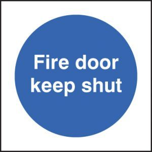 Fire door keep shut 80x80mm adhesive backed