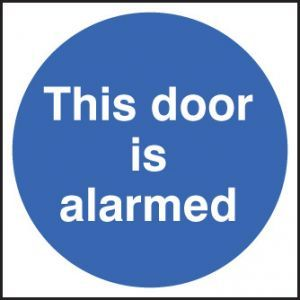 This door is alarmed