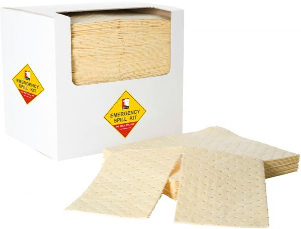 Yellow Chemical Absorbent Pad 40cm x 50cm x 1.5mm