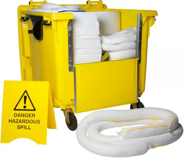 1000 Litre Oil Spill Kit Wheelie Bin