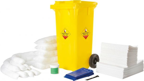 120L Oil Spill Kit Wheelie Bin