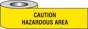 Caution hazardous area barrier tape