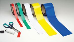 Magnetic easy-wipe strip 30mmx10m white